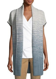 Lafayette 148 Wool-Blend Ribbed Long Vest