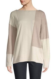 Lafayette 148 Wool Colorblock Sweater