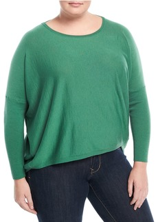Lafayette 148 Wool Ribbed-Back Dolman Sweater