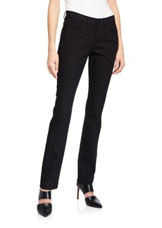 Lafayette 148 Wooster Mid-Rise Patterned Straight Jeans