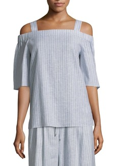 Lafayette 148 Wren Cold-Shoulder Top