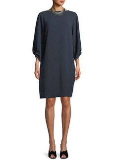 Lafayette 148 Wynona Dress in Finesse Crepe