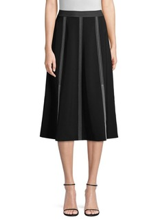 Lafayette 148 Yari High-Waisted Midi Skirt