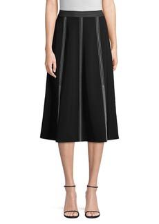 Lafayette 148 Yari High-Waisted Midi Skirt