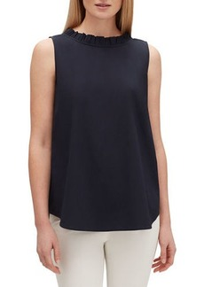Lafayette 148 Yvette Sleeveless Italian Stretch Cotton Blouse
