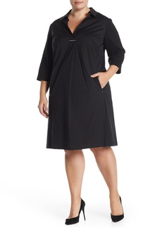 Lafayette 148 Zac 3/4 Sleeve Dress (Plus Size)