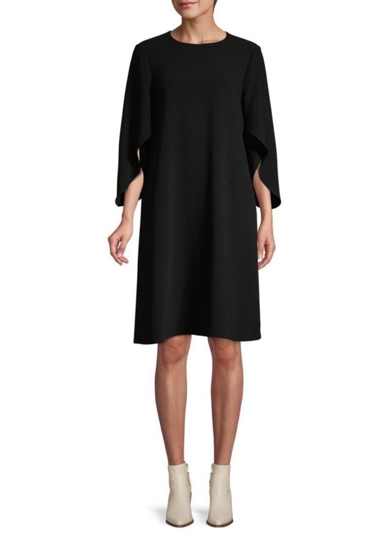 Lafayette 148 Zahara Cape Sleeve Shift Dress