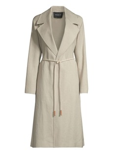 Lafayette 148 Zelida Canvas Cloth Trench Coat