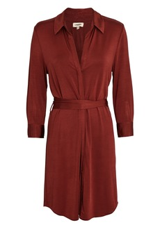 L'Agence Addison Tie-Waist Shirt Dress