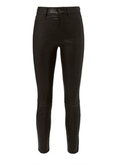 L'Agence Adelaide Leather Jeans
