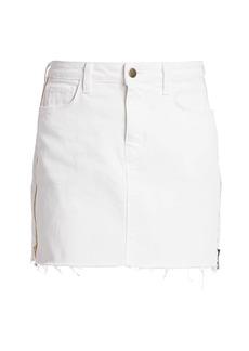 L'Agence Allegra Side Zipper Denim Skirt