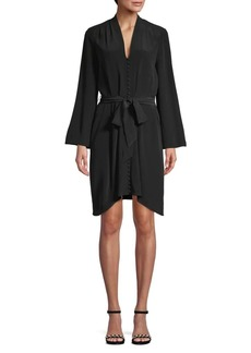 L'Agence Asymmetrical Silk Shift Dress