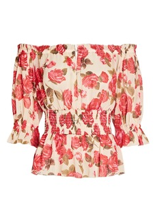 L'Agence Aubriella Floral Off-The-Shoulder Top