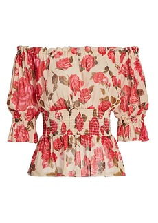 L'Agence Aubriella Off-The-Shoulder Top