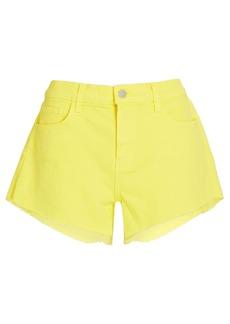 L'Agence Audrey Cut-Off Denim Shorts