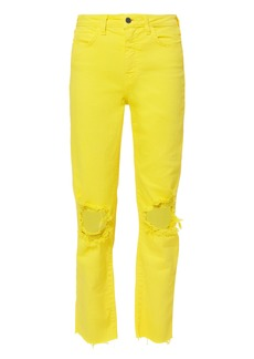 L'Agence Audrina Neon Yellow Jeans