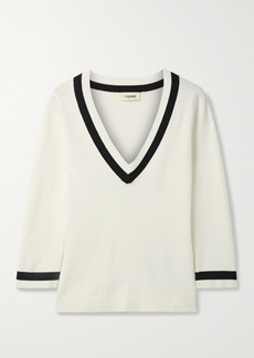 L'Agence Axelle Striped Knitted Sweater