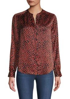 L'Agence Bardot Dot Silk Shirt