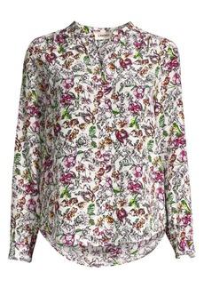L'Agence Bardot Floral Silk Blouse