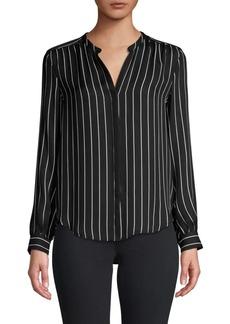 L'Agence Bardot Stripe Silk Shirt