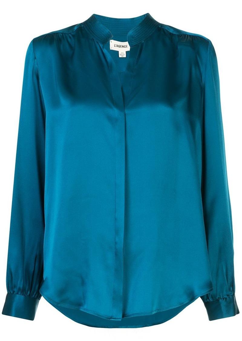 L'Agence Bianca loose-fit silk shirt