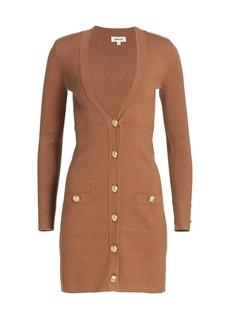 L'Agence Breanna V-Neck Button Mini Dress