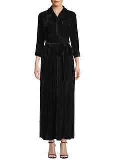 L'Agence Cameron Crinkle Velvet Maxi Dress