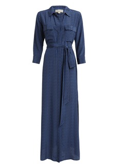 L'Agence Cameron Houndstooth Shirt Dress
