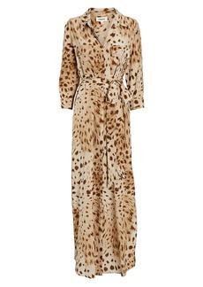 L'Agence Cameron Leopard Shirt Dress