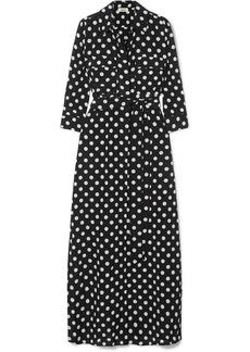 L'Agence Cameron Polka-dot Silk Maxi Dress