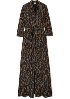 L'Agence Cameron Printed Silk Crepe De Chine Maxi Dress