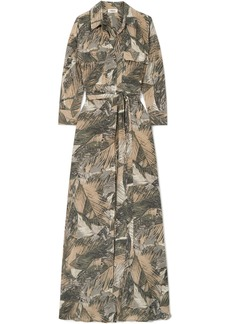 L'Agence Cameron Printed Silk-satin Maxi Dress