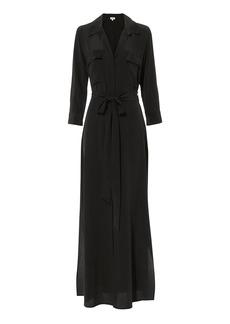 L'Agence Cameron Silk Shirt Dress