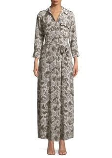 L'Agence Cameron Snakeskin-Print Dress