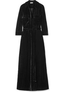 L'Agence Cameron Velvet Maxi Dress