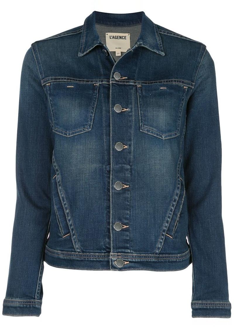 L'Agence Celine slim-fit denim jacket