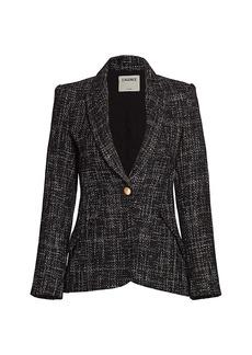 L'Agence Chamberlain Tweed Blazer
