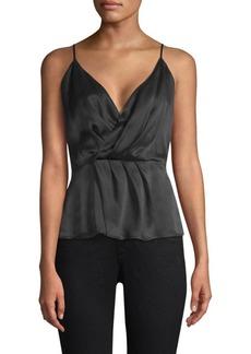 L'Agence Chiara Twist Silk Tank Top