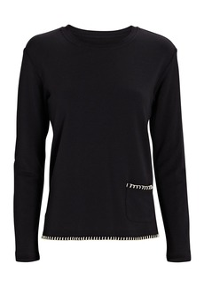 L'Agence Christy Split Hem Sweatshirt