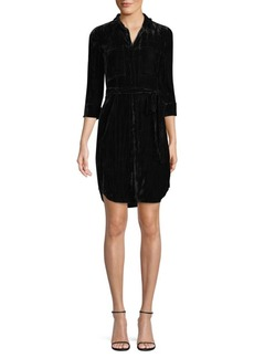 L'Agence Stella Velvet Shirtdress