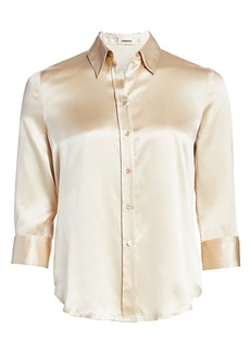 L'Agence Dani Silk Three-Quarter Sleeve Blouse