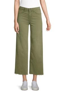L'Agence Danica Twill Wide-Leg Pants
