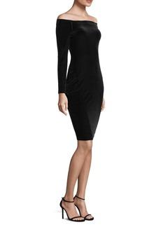 L'Agence Daphne Off-The-Shoulder Velvet Dress