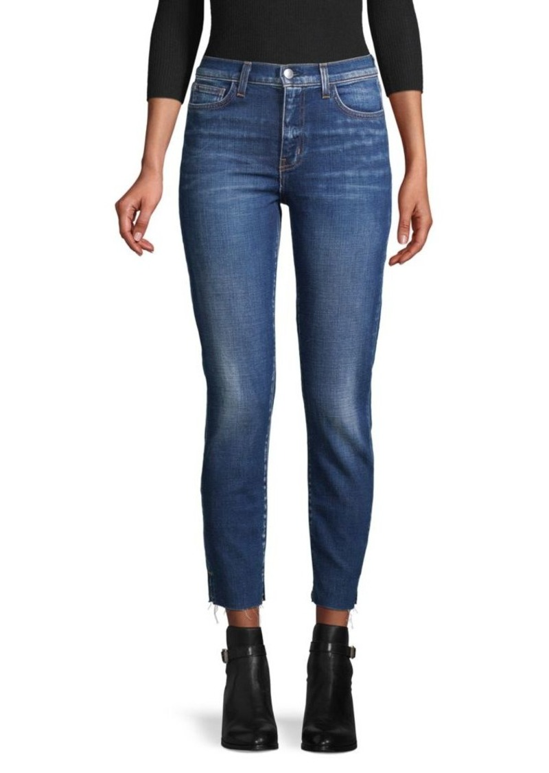 L'Agence Distressed Ankle Jeans