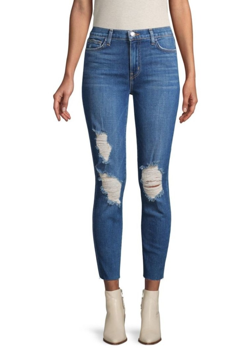 L'Agence Distressed Cropped Jeans