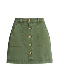 L'Agence Dora Button Mini Skirt