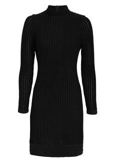 L'Agence Edita Mock Neck Dress