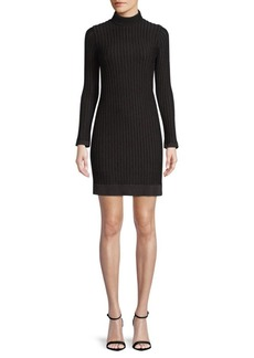 L'Agence Edita Ribbed Turtleneck Dress
