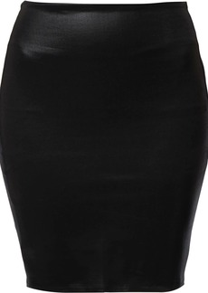 L'Agence faux-leather pencil skirt