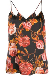 L'Agence floral-print camisole
